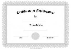Templates For Certificates Of Completion Free Editable Certificates Of Achievement Excellence Or Merit