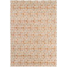 langley street ginsberg light gray burnt orange area rug reviews