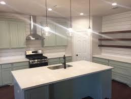 home design idea lovely floating shelves shiplap backsplash and quartz counter tops in lovely floating
