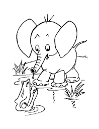 Baby Elephant Coloring Pictures Cute Elephant Coloring Pages
