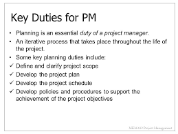 Project Manager Duties The Manager The Organization And The Team Ppt Download