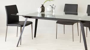 glass dining table sets 6. 6 8 seater glass dining table black powder coated legs set for sets n