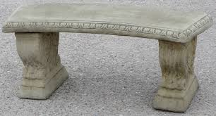 curved stone garden bench 2 x only