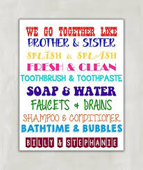 >amazon brother sister bathroom wall art sibling wall art  brother sister bathroom wall art sibling wall art kids bathroom decor kids