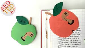 easy apple bookmark corner for back to book worm teacher s gift you