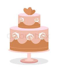 Wedding Cake Vector Illustration Flat Stock Vector Colourbox