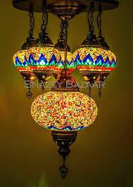 turkish chandelier handmade 6 globe mosaic celestial design red flare snazzy bazaar lighting turkish chandelier 5 mosaic lamp chandeliers dubai