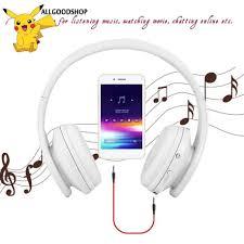 AL ]Tai Tai nghe chụp đầu Foldable Wireless Headset For iPhone Cellphone PC  Laptop