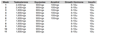 Steroid Cycle Chart Strength Fighter Ronnie Coleman Steroids Cycle