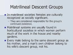 Image result for matrilineal descent definition