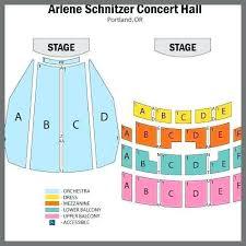 Arlene Schnitzer Concert Hall Seating Map