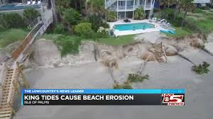 King Tides Cause Heavy Beach Erosion At Isle Of Palms