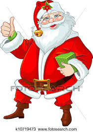cute santa claus drawing. Contemporary Drawing Clipart  Cute Santa Claus With Gift Fotosearch Search Clip Art  Illustration Murals With Drawing L