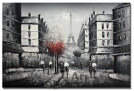 2018 paris eiffel tower black white oil painting art on canvas whole oil paintings olo pcs002 from only no1 49 01 dhgate com