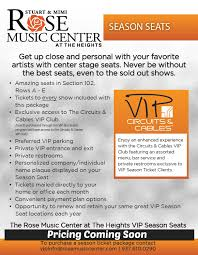 Rose Music Center Seating Chart Season Seats Rose Music Center At The Heights