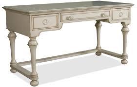 riverside furniture placid cove writing desk with 3 drawers ahfa table desk dealer locator