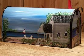hand painted mailbox designs. Handpainted Mailboxes- Artists Here In The Midwest Creating Beautiful Country Scenes On Mailboxes,Art-signed And Numbered,handmade Mailboxes, Custom Hand Painted Mailbox Designs