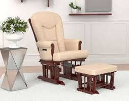 comfortable chairs for living room. Similar To The Prior Chair, This Glider Features A Rich Wood Frame And Beige Upholstery Comfortable Chairs For Living Room M