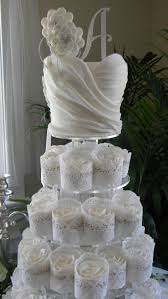 Bridal Cupcake Dress Shower Cakebridal Recipe Cakes Instructions