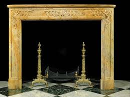 antique carved sienna marble art deco fireplace mantel