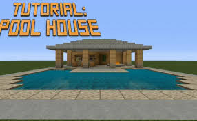 minecraft build pool house tutorial you