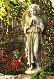garden angels statues garden angel outdoor religious garden statue statuary made of faux concrete stone available garden angels statues