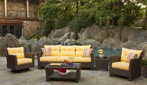 yellow patio furniture. Outdoor: Excellent Wicker Patio Furniture Set With Yellow Cushions For Side  Pool - Resin Yellow Patio Furniture