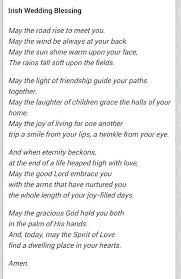 Wedding Blessing Quotes Inspiration Beautiful Irish Wedding Blessing Prayer Gallery Styles Ideas