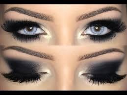 black smokey eye makeup