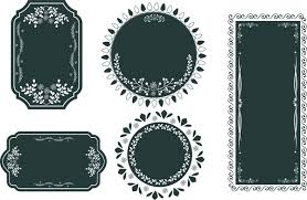 Black vintage frame design Powerpoint Border Vintage Frames Design Various Shapes In Dark Color Allfreedownloadcom Vintage Frames Design Various Shapes In Dark Color Free Vector In