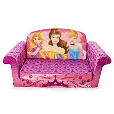 disney princess marshmallow furniture children s 2 in 1 flip open foam sofa toys r us
