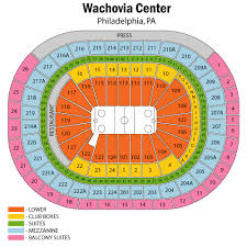 Wachovia Center Philadelphia Seating Chart Wells Fargo Center Seating Chart Views Reviews