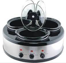 china 3 in 1 oval triple slow cooker warmer food warmer buffet server china slow cooker kitchenware