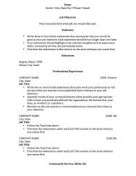 Sample College Student Resume Template Radiodignidadorg