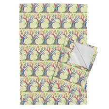 Fantasy Forest Of Rainbow Trees In Tea Towels By Rhondadesigns