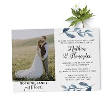 Announcement Cards Wedding Elopement Reception Invitation Cards With Photo Custom Wedding Announcement Cards Beautiful Floral Theme Elopement311