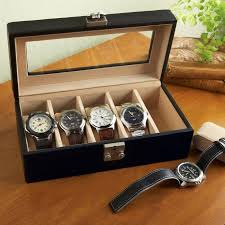 leather watch boxes for men at brookstone buy now