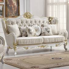 Wholesale Europe classic style sofa furniture oak wood carving with  Bar-series fabric cover L810