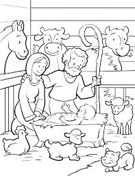 Christmas Scene Coloring Pages Running Downcom