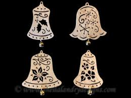 scroll saw christmas ornaments. sld390 - decorated bell ornaments scroll saw christmas e