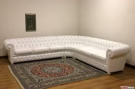 chesterfield sofa corner leather white zoom