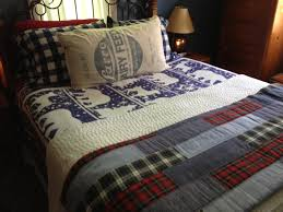 Bedroom: Master King Size Bed with Checkered Bedding Set King Size ... & ... Full size of Attractive king size bed blue elephant patterned sheets  white wool quilts red gray Adamdwight.com