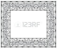 Black ornate frame Silver White Ornate Frame Black And White Retro Frame Isolation Vector White Ornate Framed Mirror Aboutchowchowforumclub White Ornate Frame Black And White Retro Frame Isolation Vector