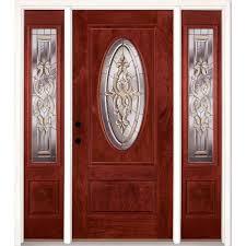 feather river doors 63 5 in x81 625in silverdale zinc 3 4 oval