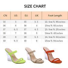 Amazon Com Roroz Womens Transparent Sandals Clear Heel