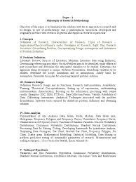 research methodology syllabus probability distribution methodology
