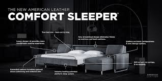 most comfortable sleeper sofa. Comfort Sleeper® By American Leather® Is Quite Simply The Most Comfortable AND Versatile Sleeper Sofa Available. With 14 Styles Available, F