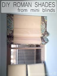 diy roman shades from mini blinds