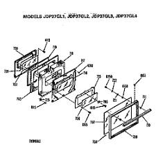 ge electric range parts model jdp37gl4 sears partsdirect door