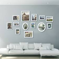 wood photo picture frame wall collage set of  modern home decor